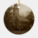 Iglesia de la arboleda de la biblia adorno de navidad