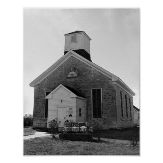 Iglesia de la biblia y del rifle de Beecher Póster