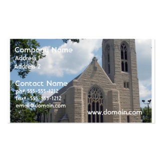 Iglesia de la catedral tarjeta de visita