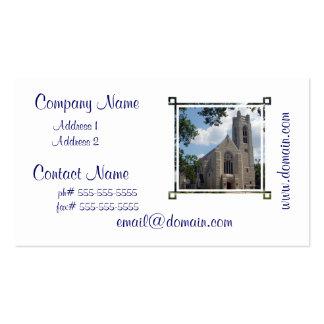 Iglesia de la catedral tarjetas de visita