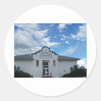 Iglesia de la comunidad de Antioch Pegatina Redonda