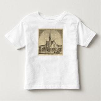 Iglesia de la libertad del este del corazón playera de niño