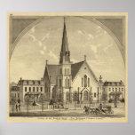 Iglesia de la libertad del este del corazón sagrad posters