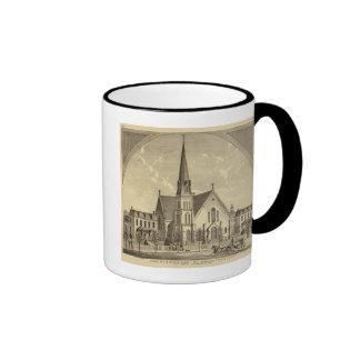 Iglesia de la libertad del este del corazón sagrad tazas de café