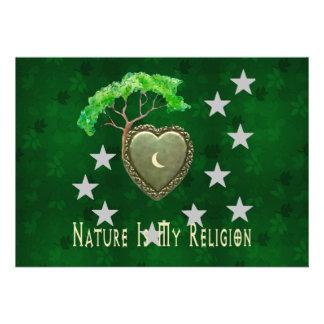 Iglesia de la naturaleza anuncio personalizado