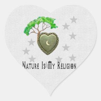 Iglesia de la naturaleza calcomania corazon personalizadas