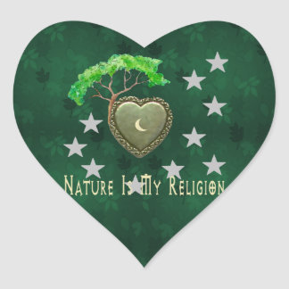 Iglesia de la naturaleza pegatinas corazon personalizadas