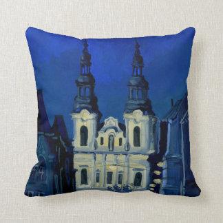 Iglesia de la noche cojín
