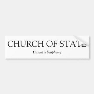 Iglesia de la pegatina para el parachoques del est pegatina para auto