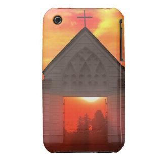 Iglesia de la salida del sol de la puesta del sol iPhone 3 Case-Mate fundas