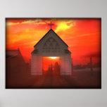 Iglesia de la salida del sol/de la puesta del sol impresiones