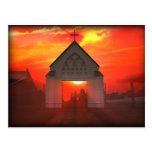 Iglesia de la salida del sol/de la puesta del sol postal