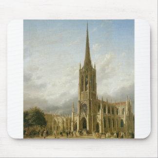 Iglesia de la tolerancia Nueva York circa 1858 Alfombrillas De Raton