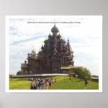 Iglesia de la transfiguración/del Kizhi/de la Rusi Poster