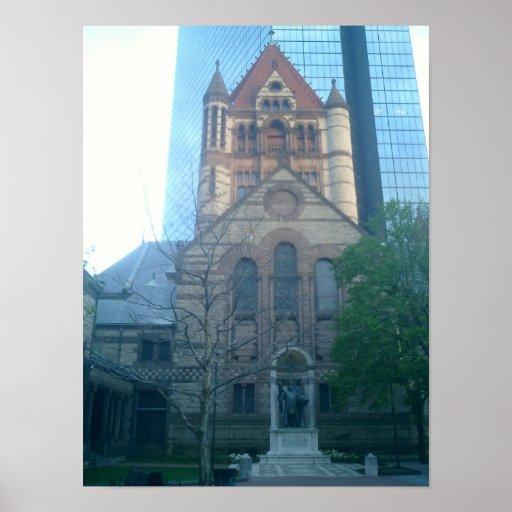Iglesia de la trinidad Boston Póster