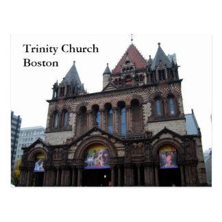 Iglesia de la trinidad Boston Tarjeta Postal