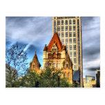 Iglesia de la trinidad de Boston Tarjetas Postales