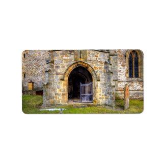 Iglesia de la trinidad santa, Wensley Etiqueta De Dirección