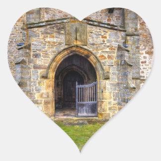 Iglesia de la trinidad santa, Wensley Pegatina En Forma De Corazón
