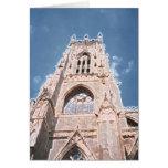 Iglesia de monasterio a de York Tarjeton