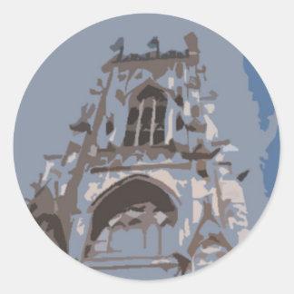 Iglesia de monasterio b de York Pegatina Redonda