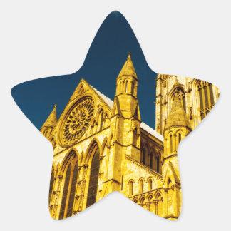 Iglesia de monasterio de la ciudad de York Pegatina En Forma De Estrella
