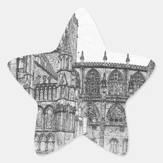 Iglesia de monasterio de York en el ancho Pegatina En Forma De Estrella
