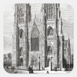 Iglesia de monasterio de York Calcomania Cuadradas Personalizadas