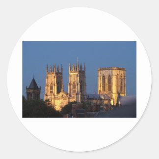 Iglesia de monasterio de York Etiqueta Redonda