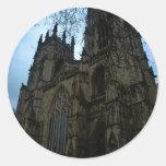 Iglesia de monasterio de York Pegatina Redonda