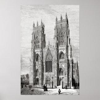 Iglesia de monasterio de York Póster