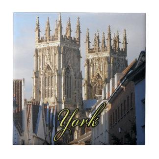 Iglesia de monasterio Inglaterra de York Azulejo Cuadrado Pequeño