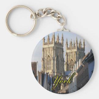 Iglesia de monasterio Inglaterra de York Llavero Redondo Tipo Pin