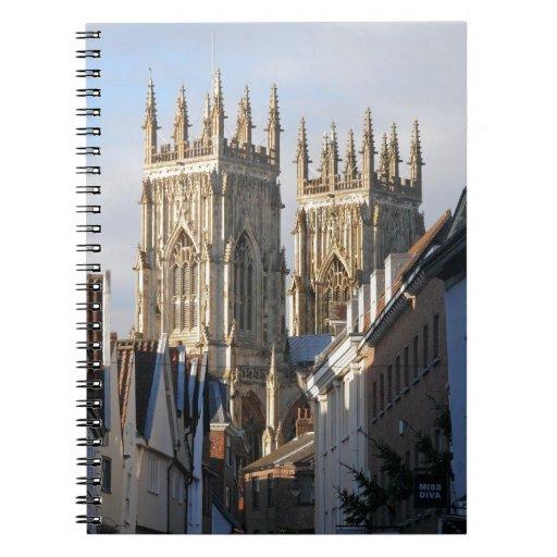 Iglesia de monasterio Inglaterra de York Notebook