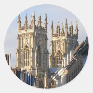 Iglesia de monasterio Inglaterra de York Pegatina Redonda