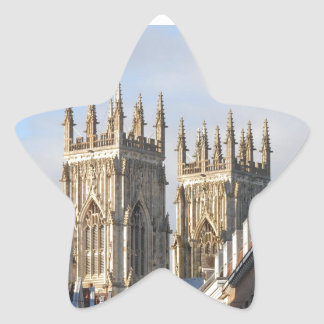 Iglesia de monasterio Inglaterra de York Pegatina Forma De Estrella Personalizada