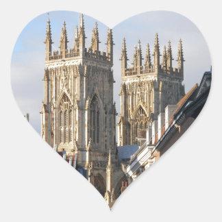 Iglesia de monasterio Inglaterra de York Pegatina Corazón Personalizadas