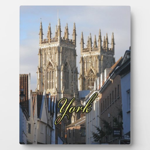 Iglesia de monasterio Inglaterra de York Placa De Madera