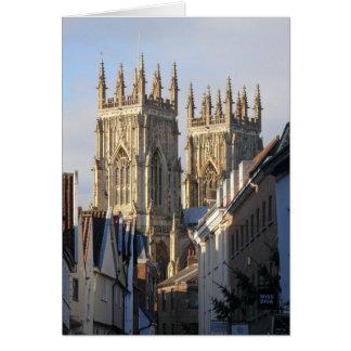 Iglesia de monasterio Inglaterra de York Tarjeta De Felicitación