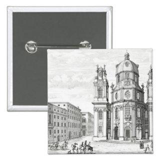 Iglesia de Notre Dame, Salzburg, Austria, de 'Ent Pin Cuadrada 5 Cm