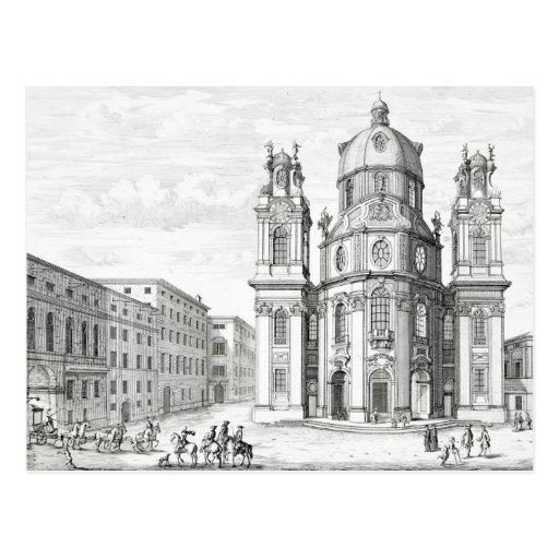 Iglesia de Notre Dame, Salzburg, Austria, de 'Ent Postal