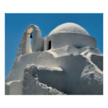 Iglesia de Panagia Paraportiani, Mykonos, Grecia Póster