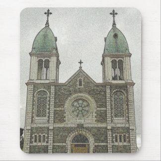 Iglesia de piedra alfombrilla de raton