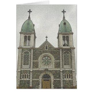 Iglesia de piedra tarjeta de felicitación
