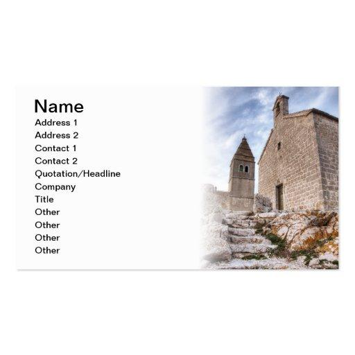 Iglesia de piedra tarjetas de visita