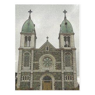Iglesia de piedra tarjetas postales