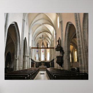 Iglesia de Poligny, el Jura, Franche Comte, Franci Posters