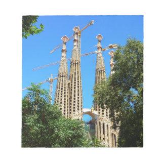 Iglesia de Sagrada Familia en Barcelona, España Libreta Para Notas
