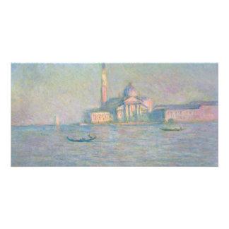Iglesia de San Jorge Maggiore Venecia de Monet Tarjeta Fotográfica Personalizada