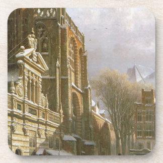 Iglesia de San Miguel en Zwolle del saltador de Posavasos De Bebida